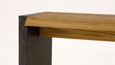 tuinbank-hout met steen (3)